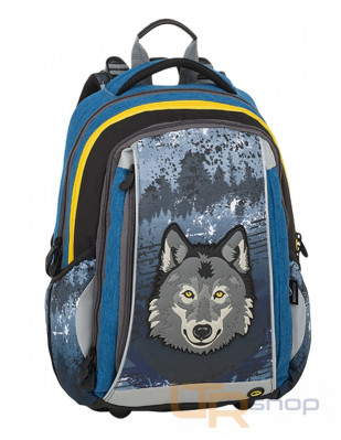 MERCURY 9 školní batoh Bagmaster C-Gray-Blue-Yellow f73afc1ac0